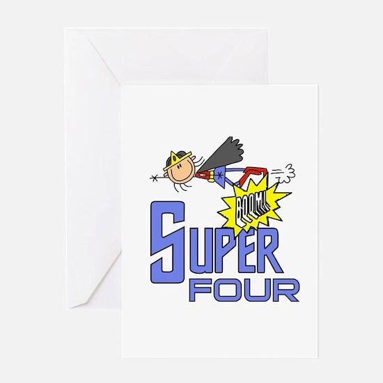 Supergirl 4th Birthday Greeting Card