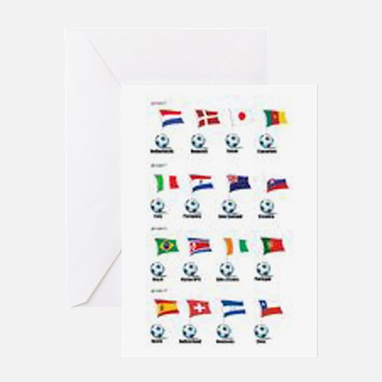 Soccer Balls and Flags Greeting Card