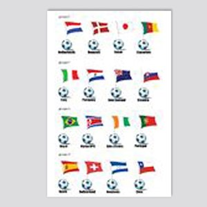 Soccer Balls and Flags Postcards (Package of 8)