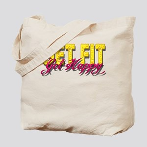 Get Fit Get Happy Tote Bag