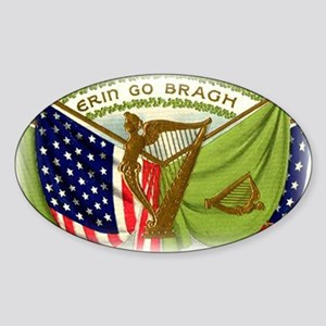Erin Go Bragh Flags Sticker (Oval)