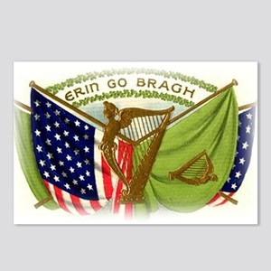 Erin Go Bragh Flags Postcards (Package of 8)