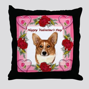Valentine Pip w Hearts & Rose Throw Pillow