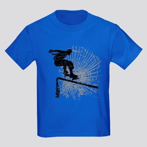 Skateboard Rail Kids Dark T-Shirt
