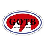 Get Out The Boat Sticker (Oval 50 pk)