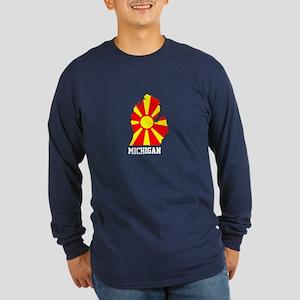 Long Sleeve Dark T-Shirt Macedonia Michigan Design