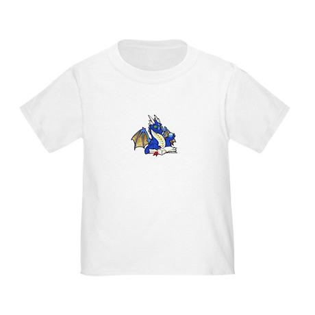 Blue Bookdragon Toddler T-Shirt