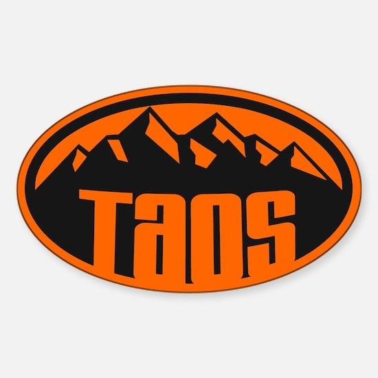 Taos NM Sticker (Oval)
