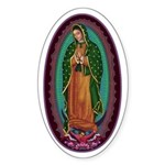 3 Lady of Guadalupe Sticker (Oval)