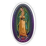 4 Lady of Guadalupe Sticker (Oval)