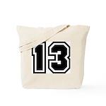 Varsity Uniform Number 13 Tote Bag