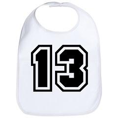 Varsity Uniform Number 13 Bib