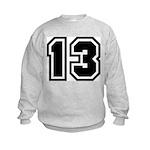 Varsity Uniform Number 13 Kids Sweatshirt