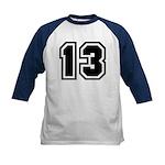 Varsity Uniform Number 13 Kids Baseball Jersey