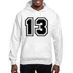Varsity Uniform Number 13 Hooded Sweatshirt