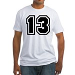 Varsity Uniform Number 13 Fitted T-Shirt