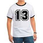 Varsity Uniform Number 13 Ringer T