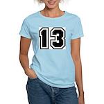 Varsity Uniform Number 13 Women's Pink T-Shirt