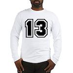 Varsity Uniform Number 13 Long Sleeve T-Shirt