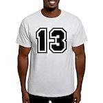 Varsity Uniform Number 13 Ash Grey T-Shirt