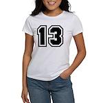 Varsity Uniform Number 13 Women's T-Shirt