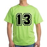Varsity Uniform Number 13 Green T-Shirt