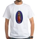 5 Lady of Guadalupe White T-Shirt