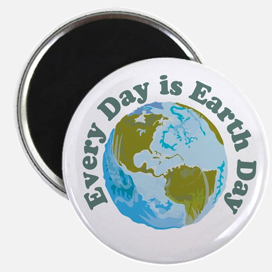 "Earth Day Every Day 2.25"" Magnet (100 pack)"