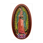 6 Lady of Guadalupe Sticker (Rectangle 10 pk)