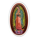 6 Lady of Guadalupe Sticker (Oval)