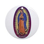8 Lady of Guadalupe Ornament (Round)
