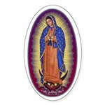 8 Lady of Guadalupe Sticker (Oval)