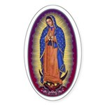 8 Lady of Guadalupe Sticker (Oval 10 pk)