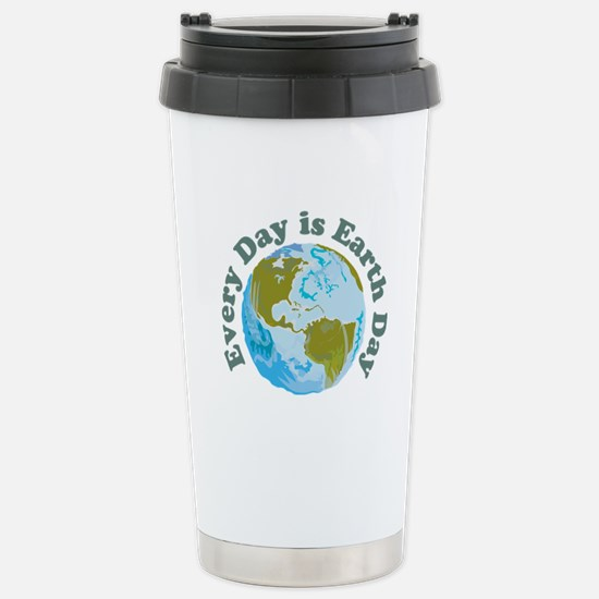 Earth Day Every Day Stainless Steel Travel Mug