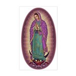 9 Lady of Guadalupe Sticker (Rectangle)