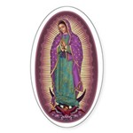 9 Lady of Guadalupe Sticker (Oval 10 pk)
