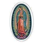 11 Lady of Guadalupe Sticker (Oval 10 pk)
