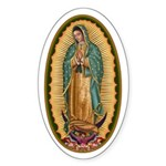 12 Lady of Guadalupe Sticker (Oval 10 pk)