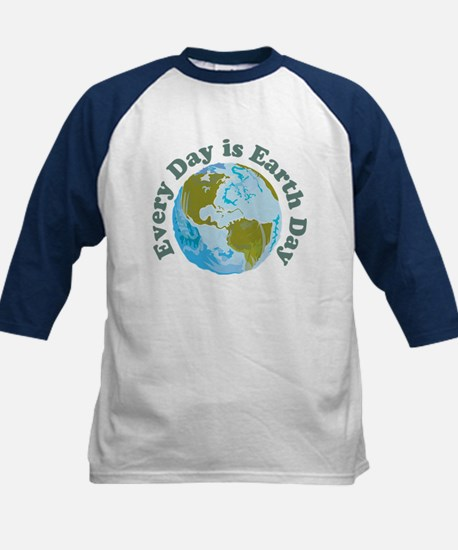 Earth Day Every Day Kids Baseball Jersey