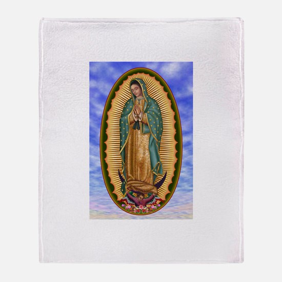 La Guadalupana Throw Blanket