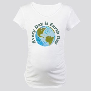 Earth Day Every Day Maternity T-Shirt