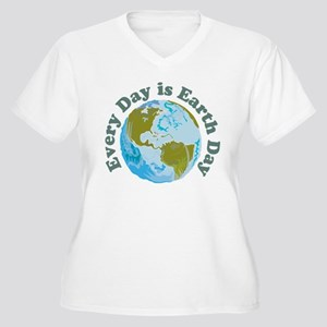 Earth Day Women's Plus Size V-Neck T-Shirt