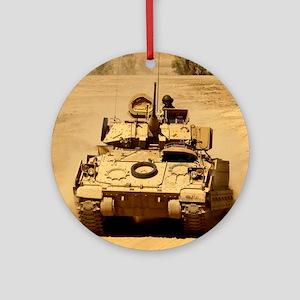 M2A2 Bradley Fighting Vehicle Ornament (Round)