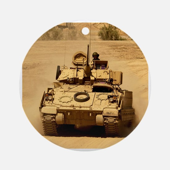 M2A2 Bradley Fighting Vehicle Ornament (Round)