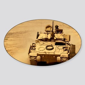 M2A2 Bradley Fighting Vehicle Oval Sticker
