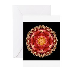 Red Dahlia III Greeting Cards (Pk of 10)