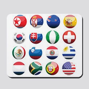 World Cup Soccer Balls Mousepad