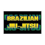Brazilian Jiu Jitsu 38.5 x 24.5 Wall Peel