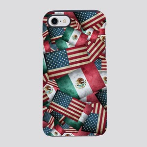 Grunge-Style Mexican/American iPhone 7 Tough Case