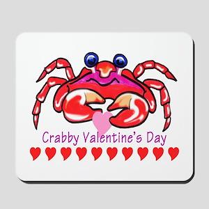 red valentine crab Mousepad